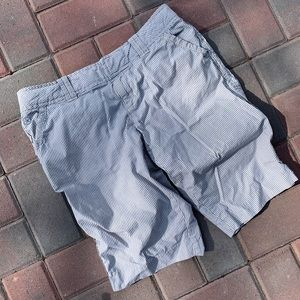 Converse One Star railroad stripe cotton shorts